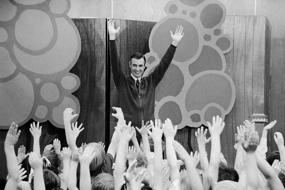 Mister Rogers Entertaining Children